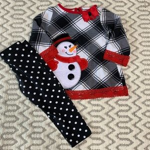Emily Rose Holiday Christmas Snowman Outfit 18mo